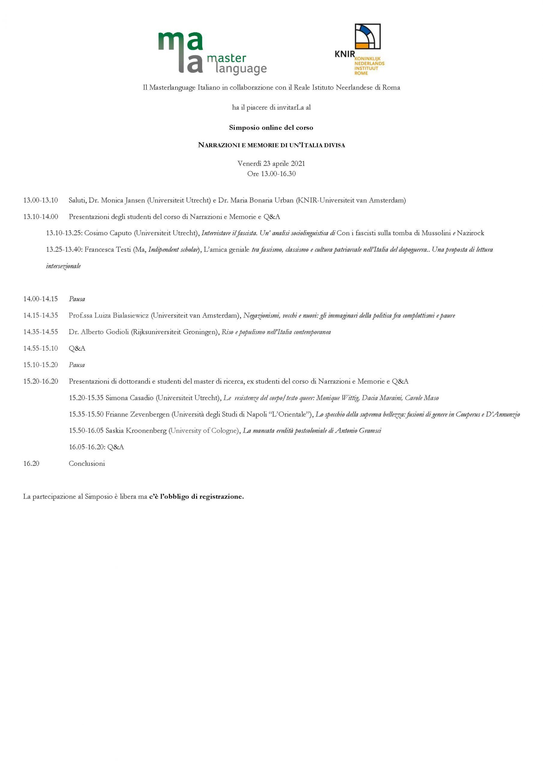 Simposio Mala 2021 Programma Def Website