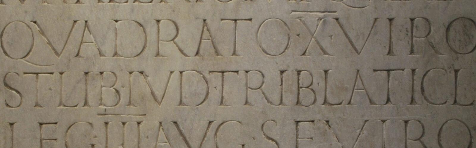 Header Latin Epigraphy